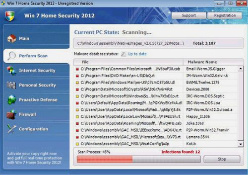 "Fake Windows Portection Software ""Win7 Home Security 2012"""